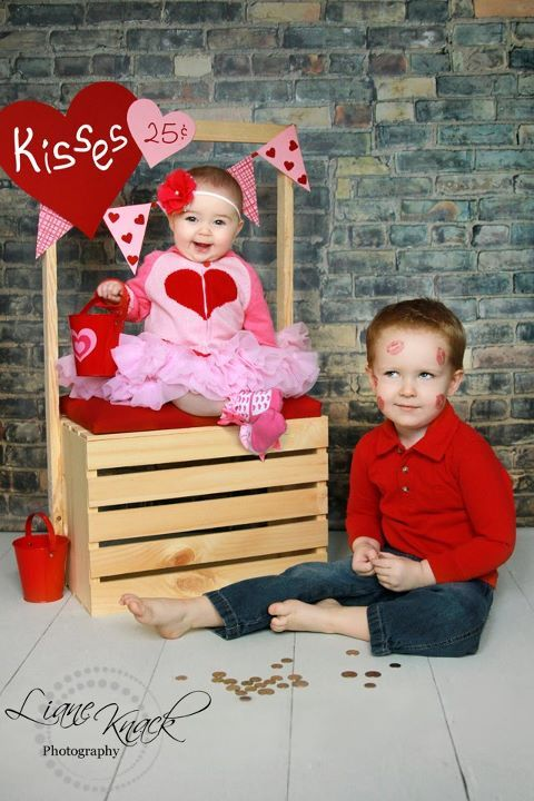 Cutest Valentines Day image ever! Our brick drop featured in the background! @Kate Ferguson you should do this!