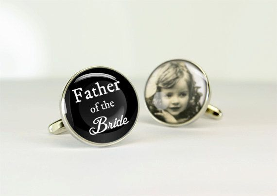 personalized father of the bride cuff links