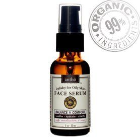 Organic Facial Serum - Balancing Moisturizer - Oily, Combination Skin by Antho Organic. $17.95. No Preservatives, no water or cheap, irritating fillers, fragrances, etc.. All natural, no junk, no synthetics, no animal testing. Grapeseed, jojoba, lavender, rosemary - 100% certified organic oils. Great under make-up, very moisturizing for combination and oilier skin types. 1 fl oz / 30 ml. 99% USDA Certified Organic Ingredients. 1 fl oz / 30 ml  This is a calming serum fo...