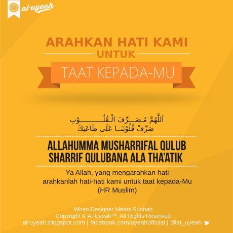 Doa Agar Dikaruniai Ketaatan | al-uyeah.blogspot.com    Pertanyaan: Saya seorang pemuda, Allah telah memberi saya hidayah untuk meniti...