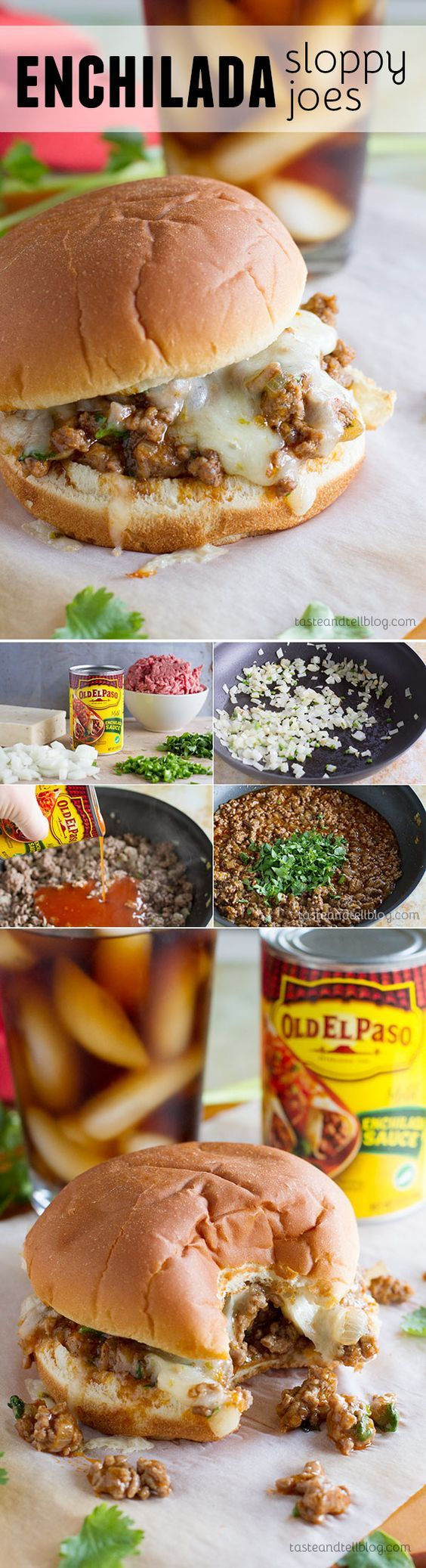 Enchilada Sloppy Joe Recipe ~ Not your typical sloppy joe recipe, these sloppy joes have an enchilada twist with delicious tex-mex flavors.