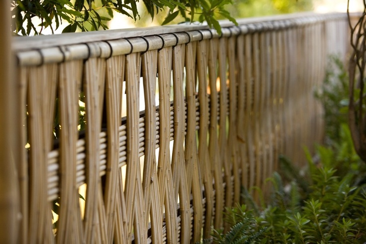 Gorgeous bamboo fence design.