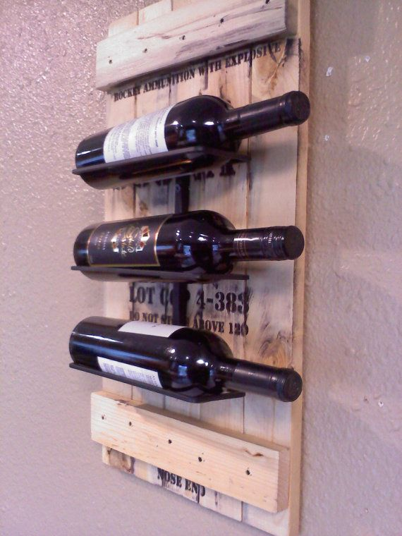 Wall Wine Rack made from  Reclaimed Vintage ammo box on Etsy, $128.00