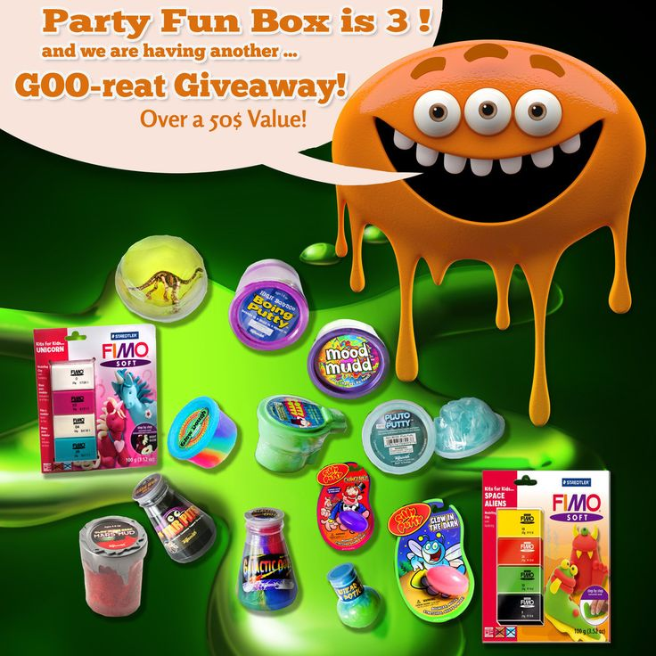 Party Fun Box has turned 3! Goo-reat Giveaway!