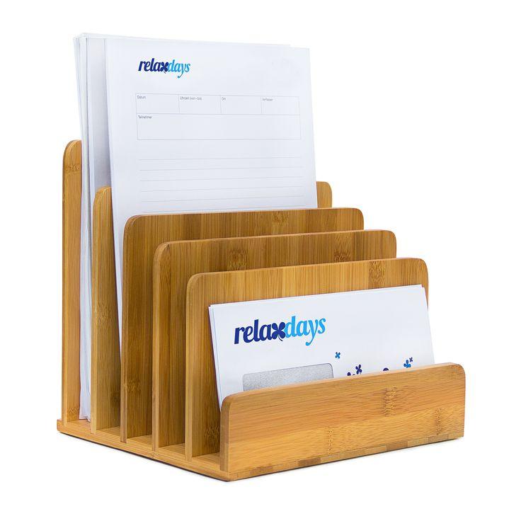 Dokumentenhalter Bambus Briefablage Briefständer Zeitschriftenständer Ordner | eBay