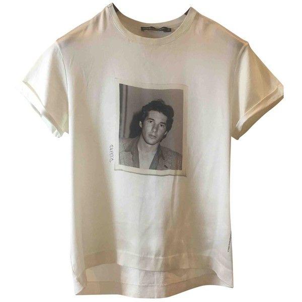 Silk t-shirt DOLCE GABBANA (92315 PYG) ❤ liked on Polyvore featuring tops, t-shirts, shirts, white silk top, white silk t shirt, silk tee, white tee and dolce gabbana t shirt
