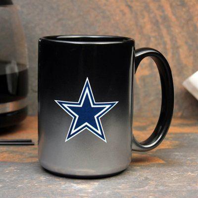 Dallas Cowboys Jumbo 15oz. Chrome Mug - Black