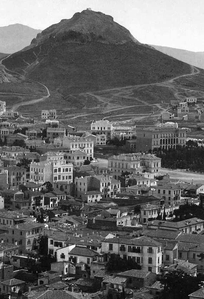 Francis Bedford, 13 Μαΐου 1862, άποψη Αθηνών με φόντο τον Λυκαβηττό