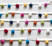 Multicoloured Pompom Trim - 1