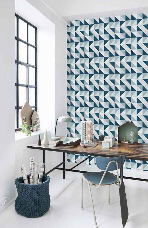 Geometric Pattern Self Adhesive Vinyl Wallpaper D089 by Livettes, $34.00