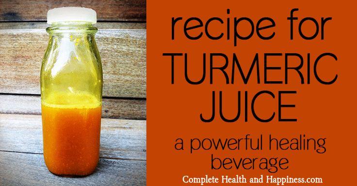 Recipe for turmeric juice.