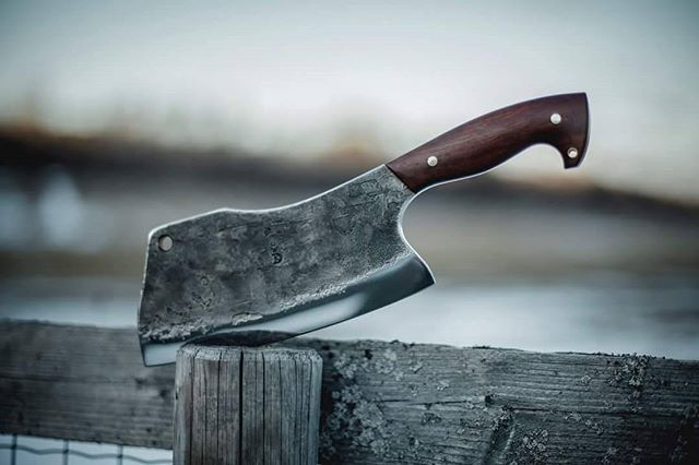 Heavy Duty Cleaver just finished. Upgraded handle design for better grip and safety. . . . #knife #knives #knivesdaily #knifecommunity #knifesale #handmade #bushcraft #bushcrafting #bushman #bushtools #badass #smith #forge #blacksmith #bladesmith #blade #blades #cleaver #handforged #kitchen #kitchentools #kitchenlife #cook #cooking #chefs #chefsofinstagram #cheflife #chef #northmen #guild Yummery - best recipes. Follow Us! #kitchentools #kitchen