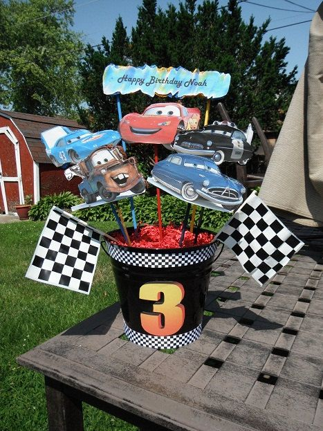 Cars Birthday Party Centerpieces by angilee123 on Etsy, $30.00