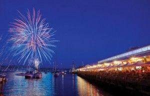 New Years' Eve at the Taste of Tasmania, Princes' Wharf No. 1, Hobart, Tasmania, Australia.