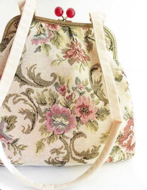 Mary Poppins carpet bag large purse of by LoveThirties on Etsy