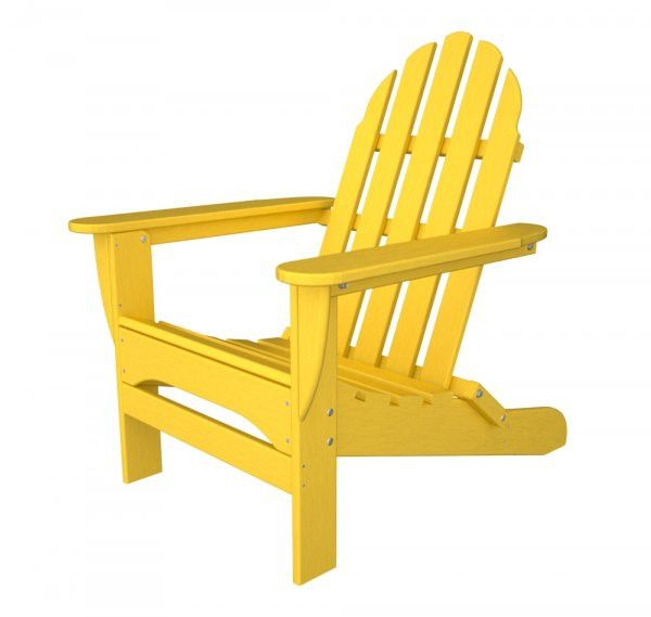 "POLYWOOD Adirondack Chair (Lemon) (35.75""H x 29.00""W x 35.75""D)"