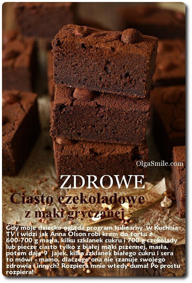 Ciasto czekoladowe z mąki gryczanej choolade cake with buckwheat flour