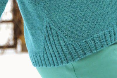 Knitting Rib insert detail. No pattern