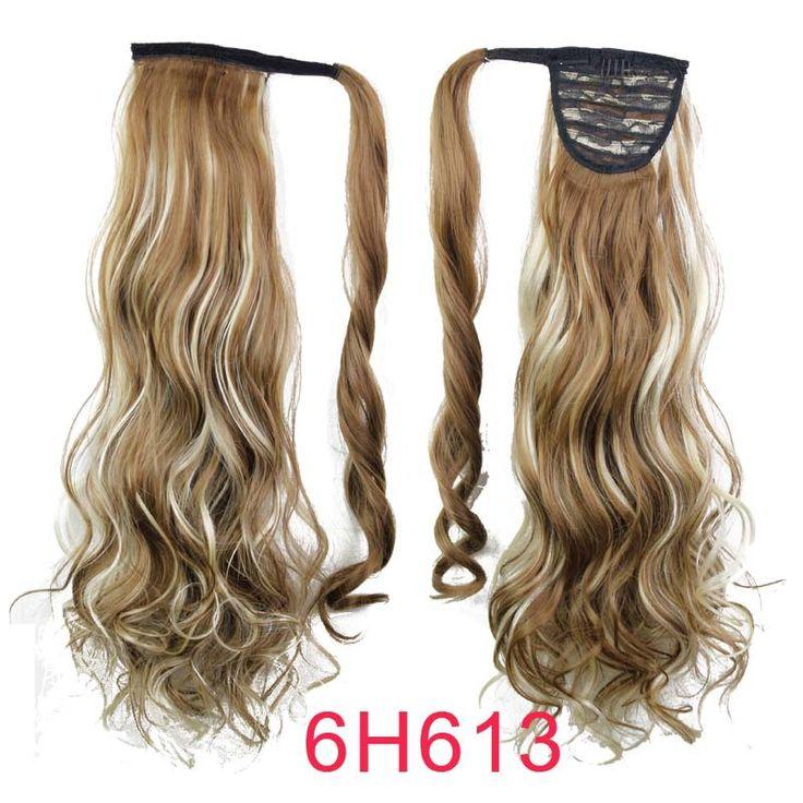 Синтетические длинные волнистые клип в обернуть вокруг хвост поддельные волос расширение волос хвостики Pad парики конский хвост вьющиеся частей, принадлежащий категории Хвосты и относящийся к Красота и здоровье на сайте AliExpress.com | Alibaba Group