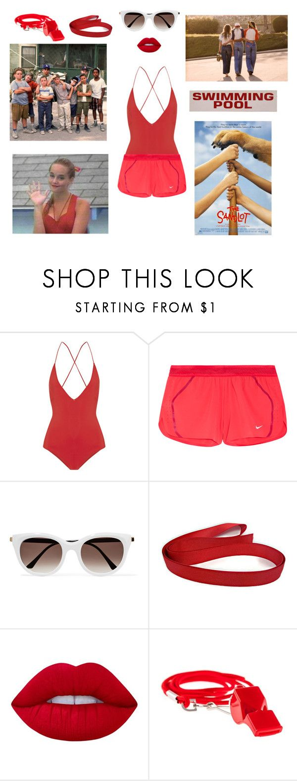 """""""Wendy Peffercorn"""" by zlilac ❤ liked on Polyvore featuring Emma Pake, NIKE, Thierry Lasry and Lime Crime"""