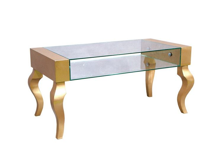 Stolik Glamour gold/silver #table #coffee #coffeetable #home #modern #design #homedecor #homedesign #furniture #metal #glass #glamour #gold #silver