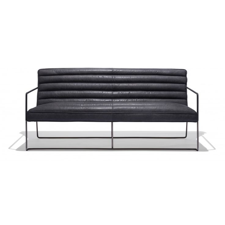 McQueen Sofa — A beautiful combination of luxurious full grain leather and an eye grabbing industrial steel frame, the McQueen Collection, is one of the first additions of 2015 to our ever expanding line of upholstered furnishings.