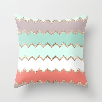 AVALON CORAL Throw Pillow by Monika Strigel - $20.00