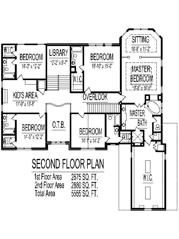 5 Bedroom 2 Story House Plans 5100 Sq Ft Atlanta Augusta