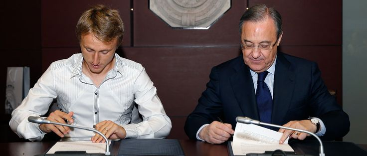 Modric's two years at Real Madrid yeah until 2018, be a better boy Modric :*