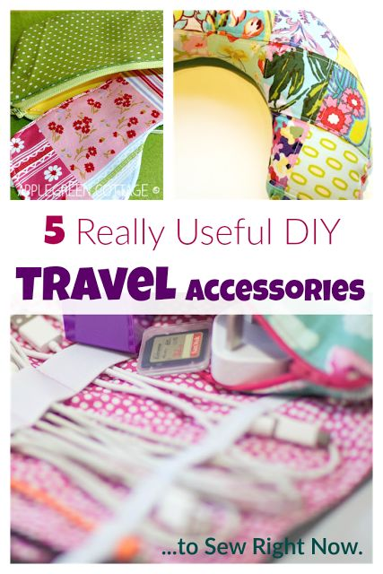 Here are 5 amazingly useful DIY acessories to sew for when you go on vacation, with free patterns and tutorials. Check them out, you'll want to make them all!