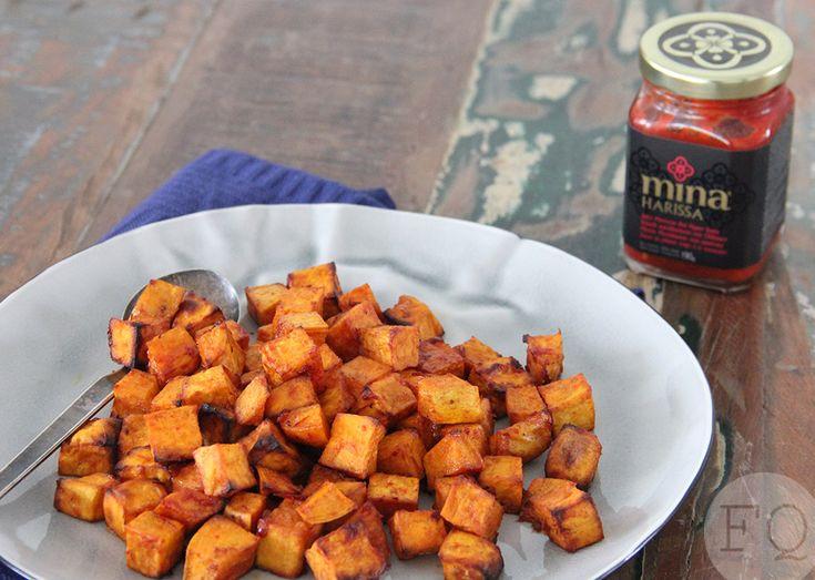 Deze pittige zoete aardappel uit de oven is een overheerlijk bijgerecht. Een heerlijke balans tussen zoet en pittig.