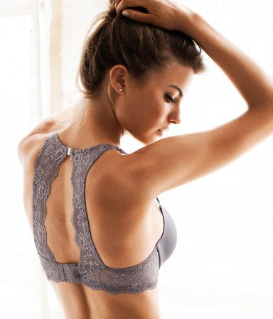 Lace strap bra for open back shirts | H&M