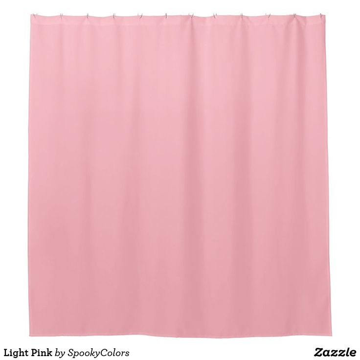 Light Pink Shower Curtain