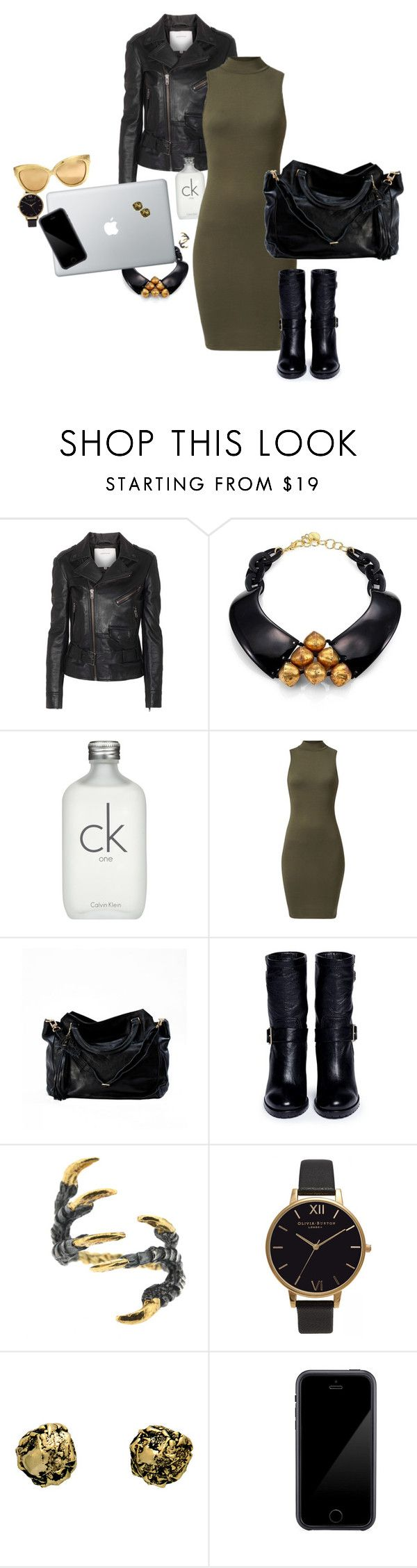 """High neck dress"" by nastiarl on Polyvore featuring moda, Surface To Air, Nest, Calvin Klein, Jimmy Choo, Tessa Metcalfe, Olivia Burton, Kamryn Dame, Squair y Linda Farrow"