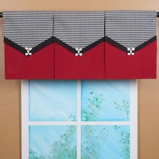 Valance idea. Maybe using pleated satin for top, and smooth satin for bottom, with a ribbon trim in between?