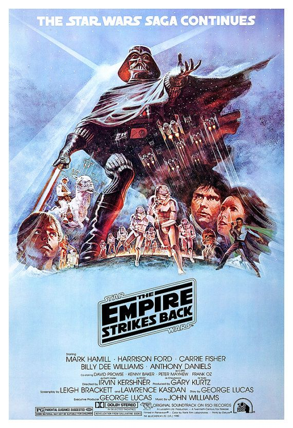 The Empire Strikes Back - Darth Vader - Stormtroopers - Boba Fett -13x19  Classic Sci Fi  Movie Poster Art - Starwars Han Solo R2D2 C3PO