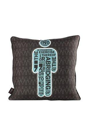 Inhabit AM 1 Pillow, Cornflower Blue