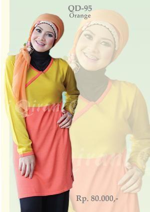 Baju Blus Rajut Wanita QD-95 Orange