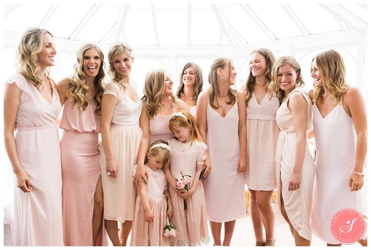 Pink Bridesmaids! | Incredible Summer Ontario Cottage Wedding Photos: Jess and Spencer  | © 2016 Samantha Ong Photography www.samanthaongphoto.com #samanthaongphoto #cottagelife #cottagewedding #torontowedding #gardenwedding #bohochic #beautifulwedding #bridesmaids