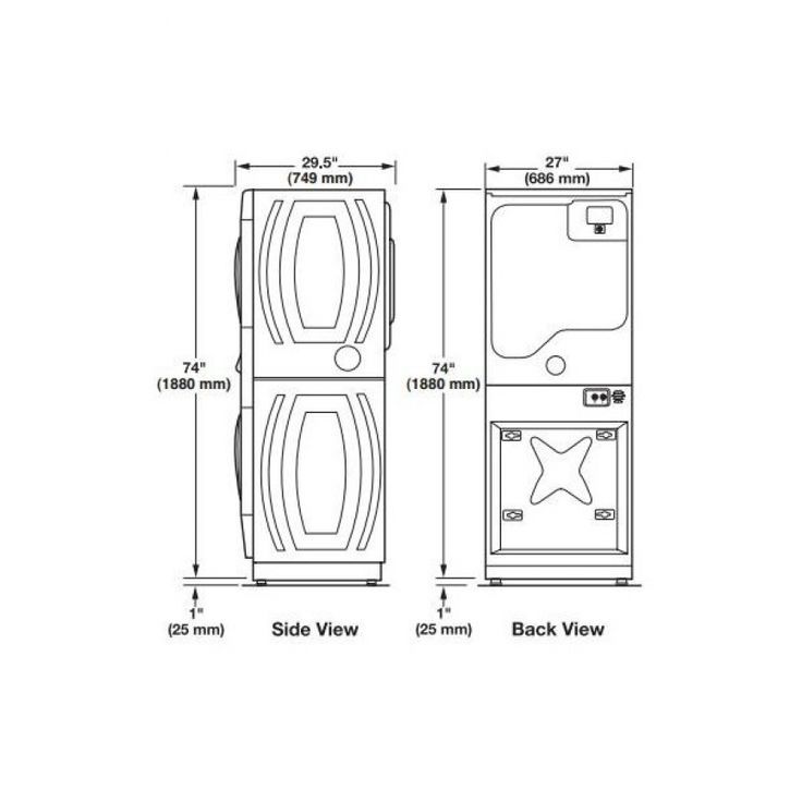 Image result for stackable washer dryer clearance dimensions