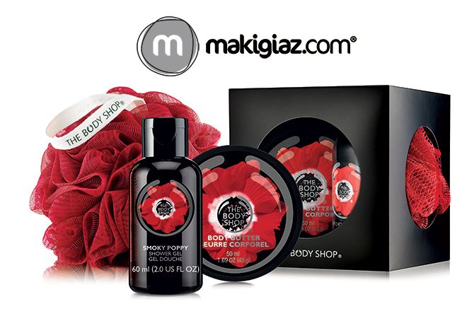 """A new sensual Limited Edition collection """"Smoky Poppy"""" is coming soon from The Body Shop.  English Article http://makigiaz.com/blog/the-body-shop-smoky-poppy-en/  Greek Article http://makigiaz.com/blog/the-body-shop-smoky-poppy/"""