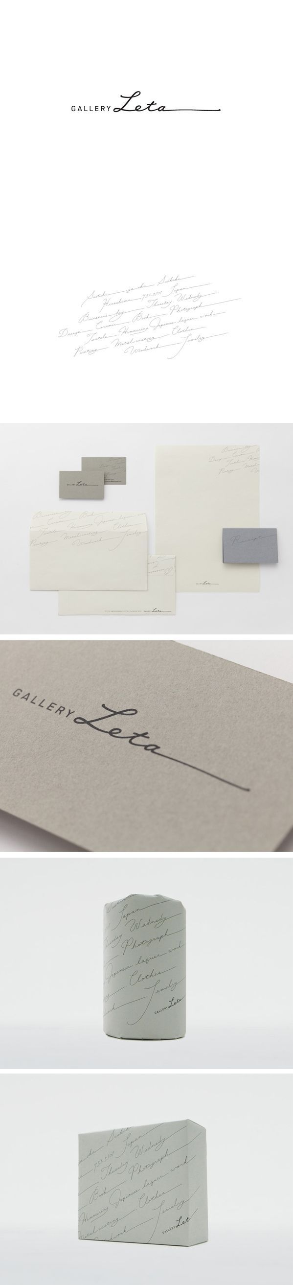 GALLERY LETA - Daikoku Design Institute / design / logo / branding / stationery /business card / signature and type - beautiful, elegant and classy design