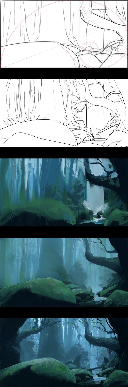 Ancient woods - Process by JeremyPaillotin.deviantart.com on @deviantART