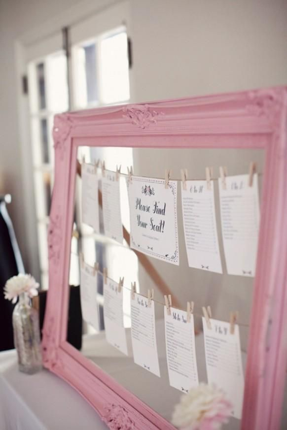 @Lauren Davison Davison Davison Beintema - I have some vintage frames laying around that would work for this- guest seating chart (obviously spray paint different color)