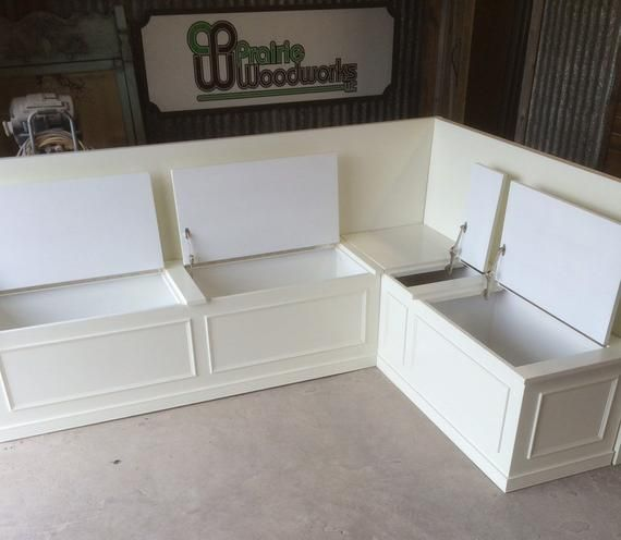 No Finish Banquette Corner Bench Seat With Storage Etsy Storage Bench Seating Corner Bench Seating Corner Bench With Storage