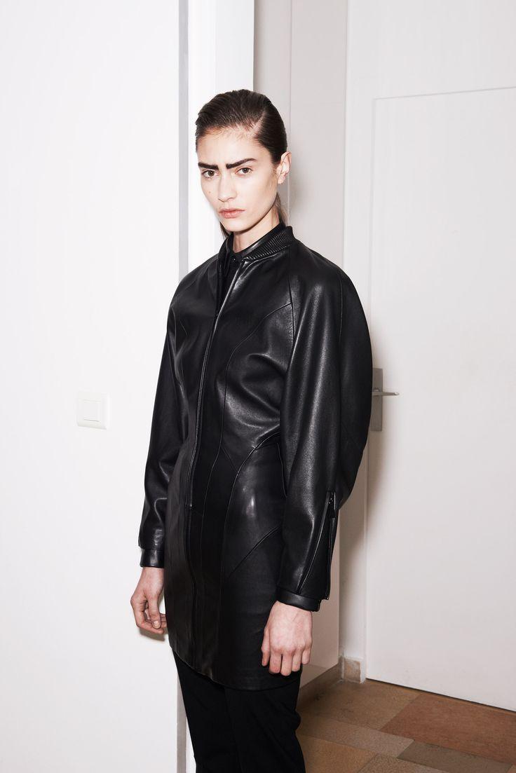 Barbara Bui Pre-Fall 2014 Fashion Show.  I like the jacket seamlines.