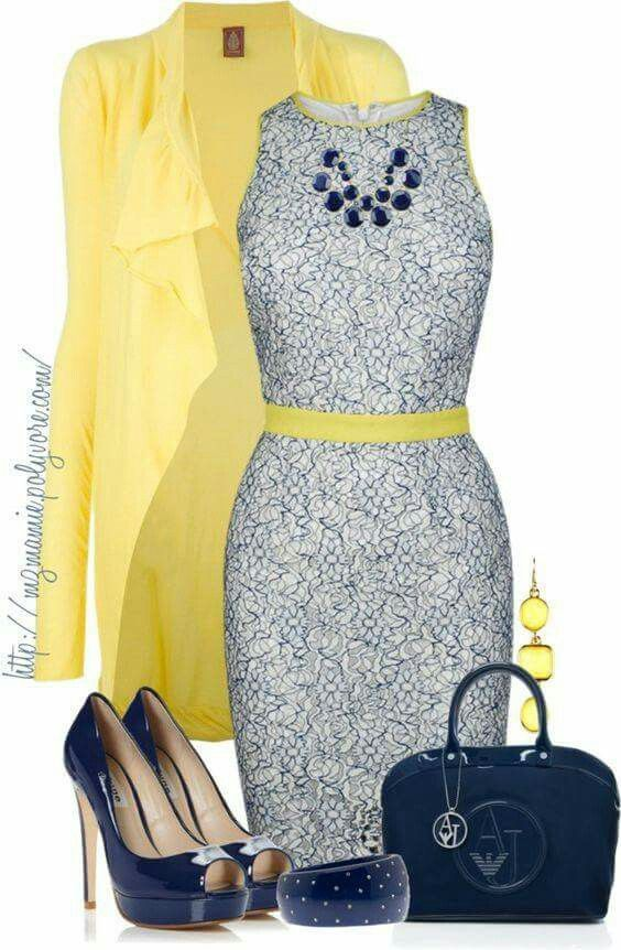 Navy and Yellow palette