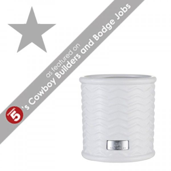 PUELLA Large White Plant Pot *AS FEATURED ON CHANNEL 5's COWBOY BUILDERS & BODGE JOBS*