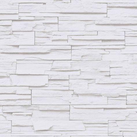 Papel pintado Metaphore imitación piedra tonos grises y blancos MTE65540000