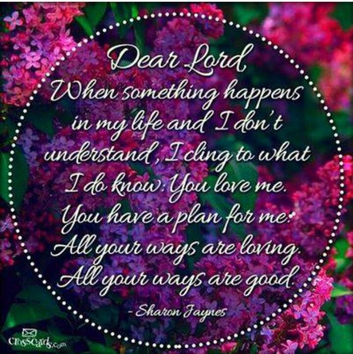 Dear Lord: When Something Happens In My Life And I Donu0027t Understand   U2020  Blessings Quotes And Christian Sayings U2020